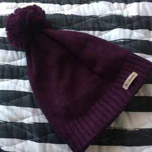 Columbia Purple Beanie Slouch Hat w Heat Insulate